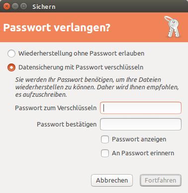 mit Passwort schützen?