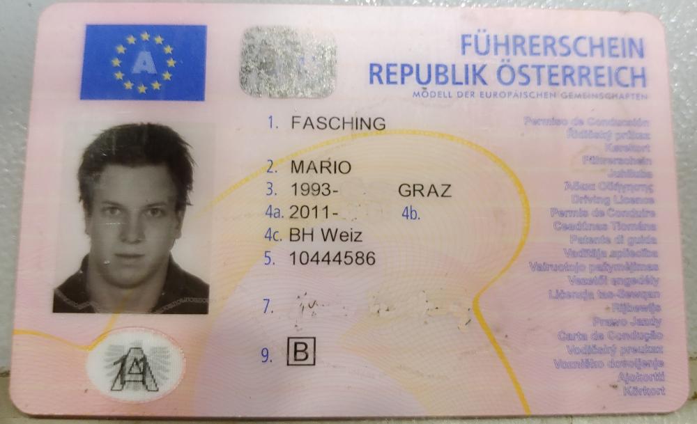 Führerschein Mario Fasching