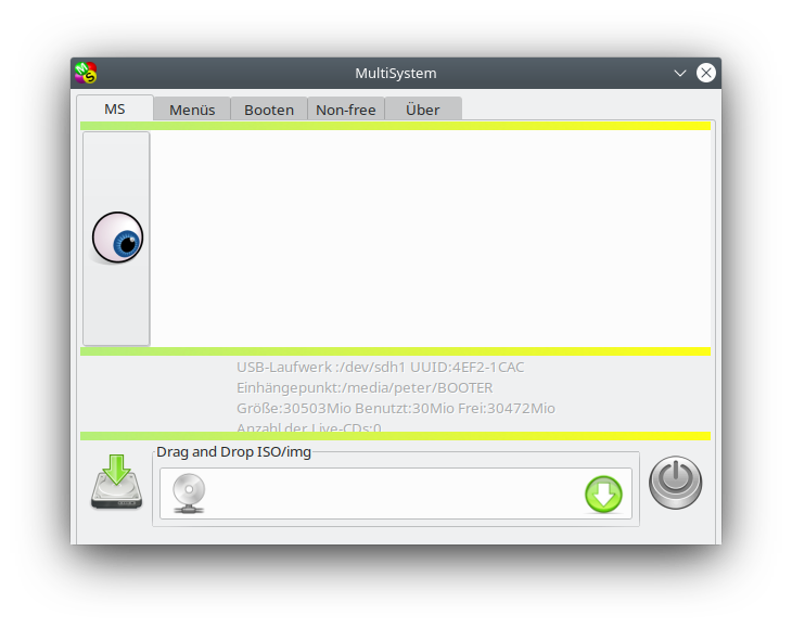 MultiSystem Programmfenster
